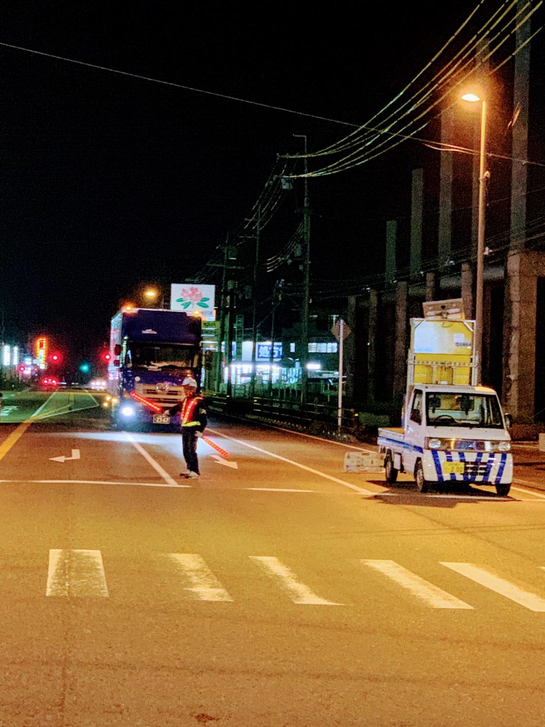 滋賀県蒲生郡日野町にて夜間工事のご依頼を賜わっております。
